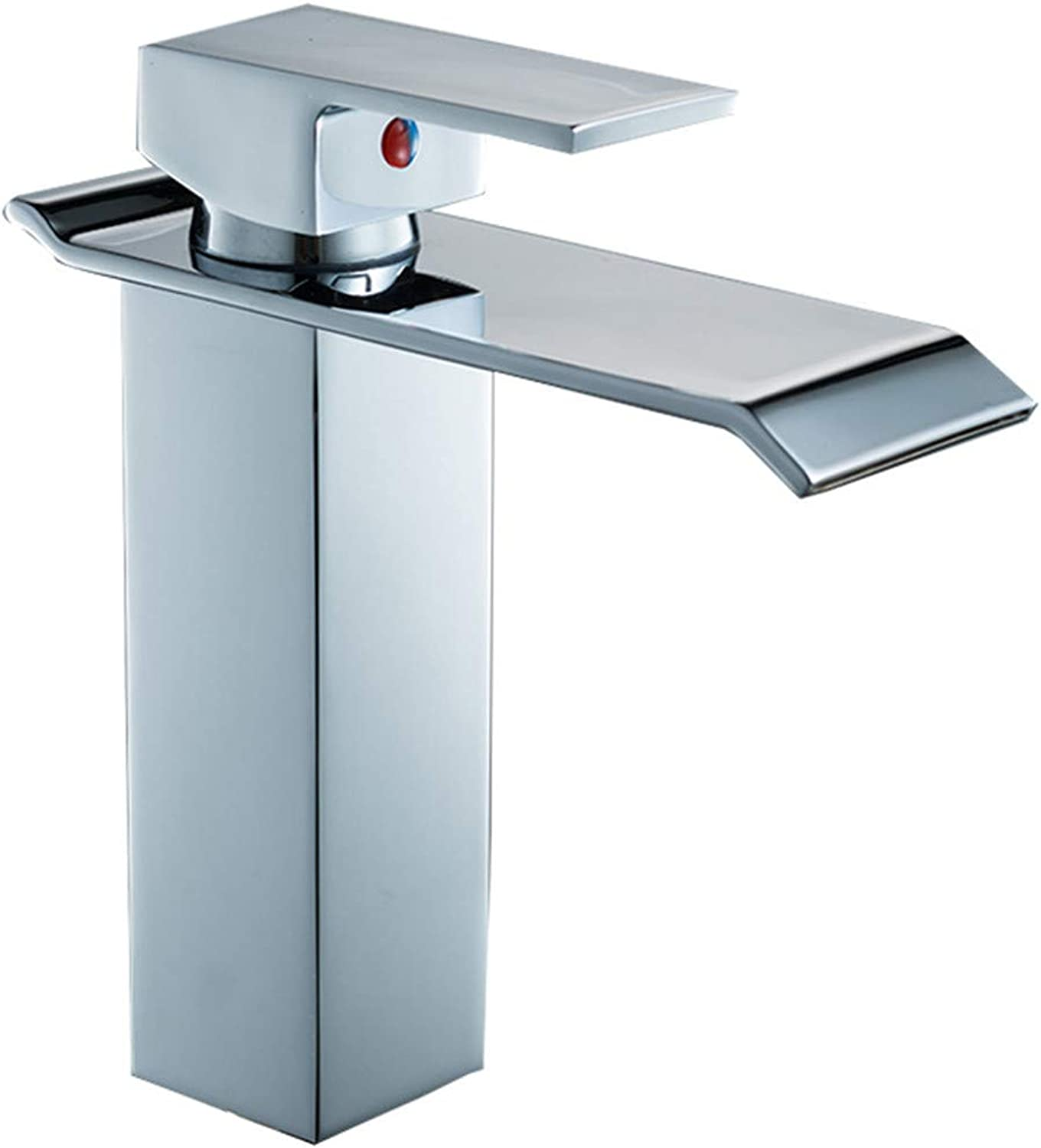 goldYING Taps Faucets??Copper Chrome Basin Faucet Project Hotel Bathroom Waterfall Basin Hot And Cold Water Mixer