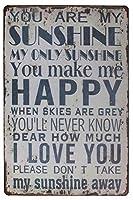 Your Are My Sunshine Living (Yellow) ティンサイン ポスター ン サイン プレート ブリキ看板 ホーム バーために