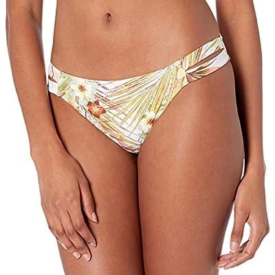 Roxy Junior's Printed Beach Classics Reg Bikini Bottom, Bright White HERBIER S, M