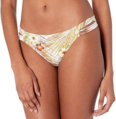 Roxy Junior s Printed Beach Classics Reg Bikini Bottom Bright White HERBIER S M product image