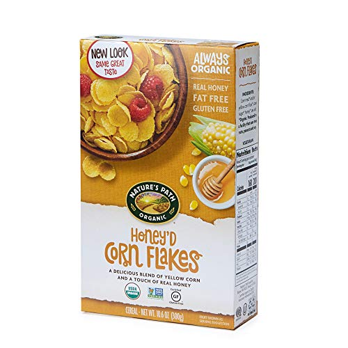 Nature's Path Honey'd Corn Flakes Cereal, Healthy, Organic, Gluten-Free, 10.6 Ounce (Pack of 6)