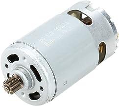 Motor de engranaje de CC, motor de engranaje eléctrico de alta potencia de 12 VCC, motor industrial de una sola velocidad, motor de engranaje de 9 dientes, para herramientas de taladro eléctrico