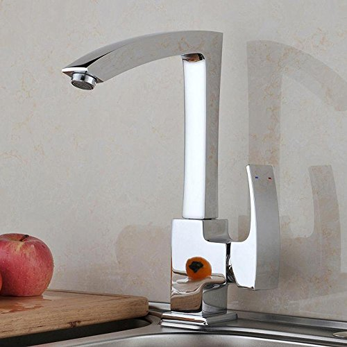 Check Out This BiuTeFang Kitchen Faucet Hot and Cold Faucet Copper 360 ° Swing Lift Basin Sink Fauc...
