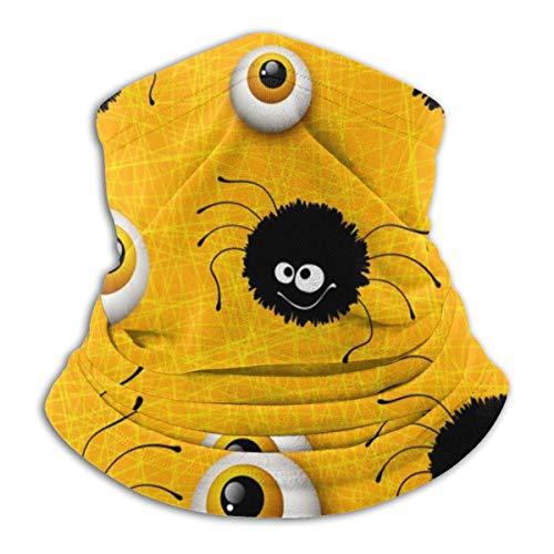 Lzz-Shop Nackenwärmer mit Globus-Okular-Spinnen-Okular für Halloween – breites Band für den Kopf, Schal, Kragen, Gamasche, Sportschal