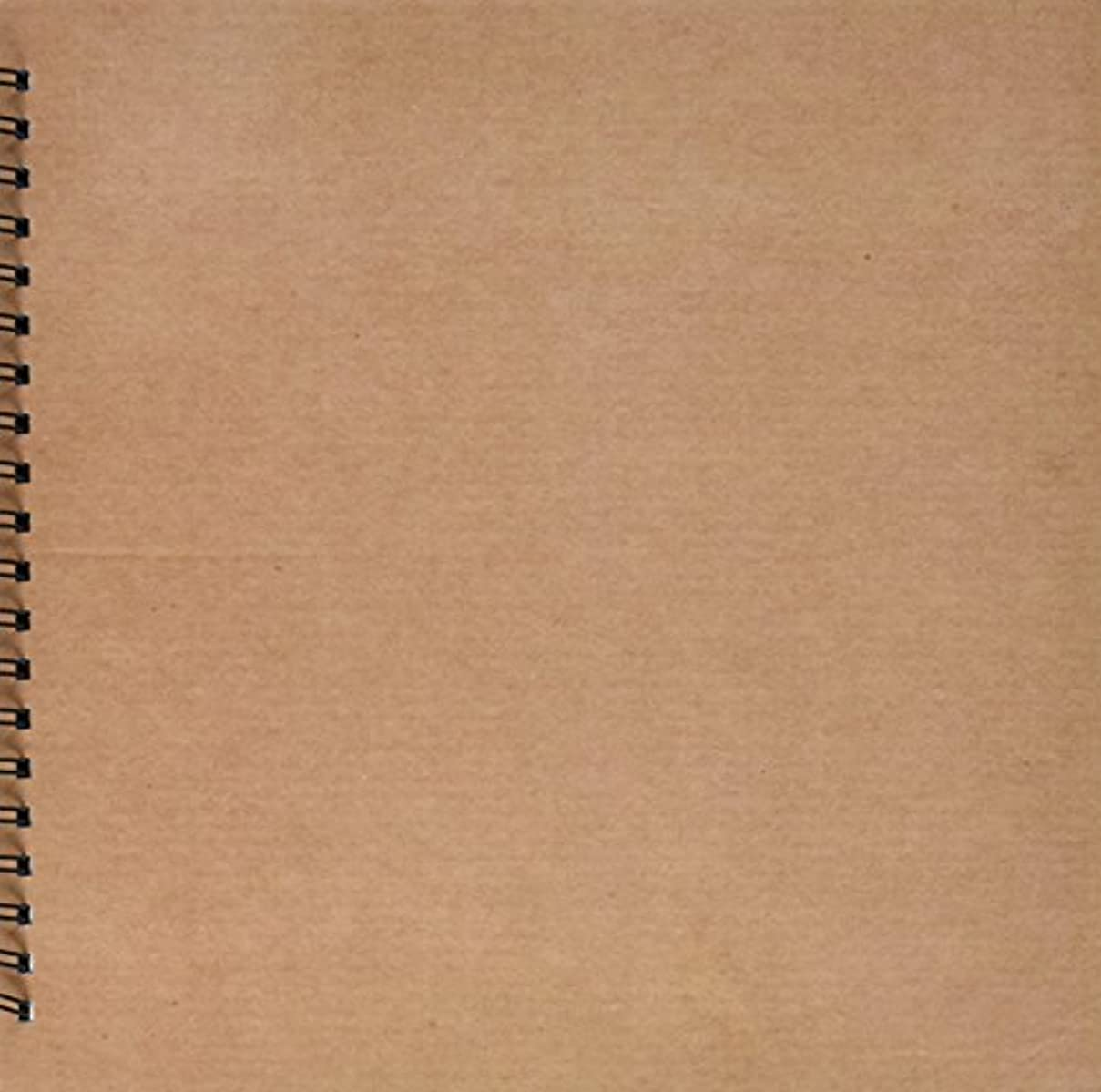 3dRose db_62628_2 Natural Cardboard Texture Memory Book, 12 by 12-Inch
