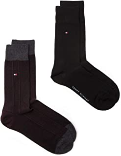 Tommy Hilfiger, 2 Pack Hombre Calcetines Varios Colores Med