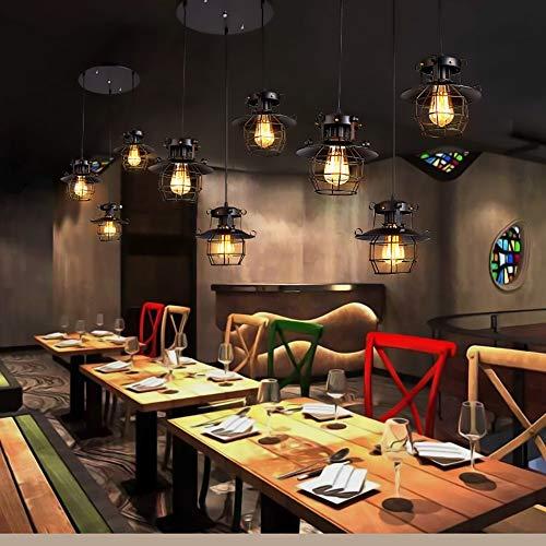 XXYHYQHJD Estilo Retro Lámparas Cafetería Restaurante Barra Tienda de Ropa Creativo del Hierro labrado 21 * 20cm Colgante de luz