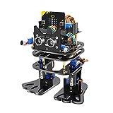 Kit de robot humanoide, micro: bit Smart Biped Robot Kit Soporte de programación gráfica para STEM Education DIY Toy con control remoto por infrarrojos para niños Estudiantes Adultos