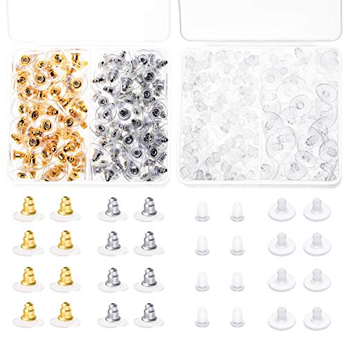 Earing Backs Rubber, Anezus 500pcs Earring Backs Secure Bullet Clutch Safety Earring Backings for Earring Hooks Stud Ear Rings Replacements