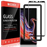 MASCHERI Protector de Pantalla para Samsung Galaxy Note 9, [3D Cobertura Completa] [Marco de posicionamiento] Vidrio Templado Samsung Galaxy Note 9 Cristal Templado - Negro