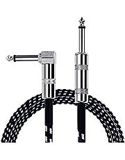 """Anpro Cable para Guitarra/Bajo/Teclado/Electríca 3m (10ft) φ 6.3mm (1/4"""") Derecho a Conectores de Forma L"""