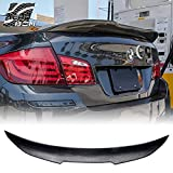 AeroBon Real Carbon Fiber Rear Trunk Spoiler Compatible with 09-16 F10 5-Series F10 M5 (High Kick Style)