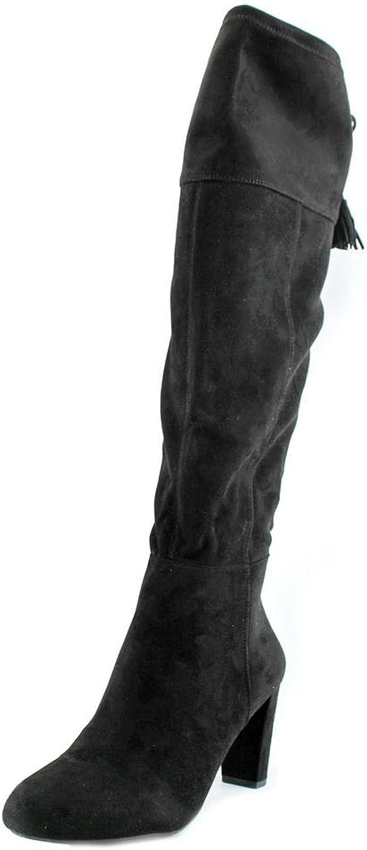 I35 Hadli Fringe Tie Pull On Over The Knee Boots, Black, 6.5 US