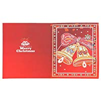 Christmas Cards Greeting Card 5D DIY Special-shape Diamond Painting Bell Christmas Greeting Card (HK011)for Xmas New Year Valentine's Day Birthday Anniversary Mother's Day