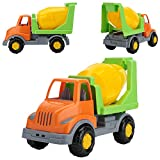 Cement Mixer Toy Truck for Boys - Concrete Mixer Truck for Toddler - Driven Construction Vehicle Toys by Polesie Orange/Green