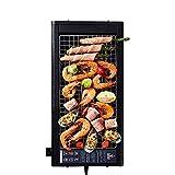 Barbecue da tavolo elettrico Barbecue antiaderente senza fumo con livelli di regolazione d...