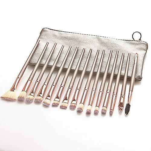 15 Stück Make-Up Pinsel Set Lidschatten Blending Kosmetik Puder Eyeliner Augenbrauen Wimpern Pinsel Beauty Make Up Pinsel Tool Kit