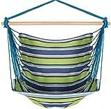 Inspired Home Living Silla hamaca brasileña Grande Azul Verde