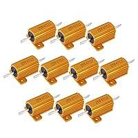 10個25Wアルミニウムクラッドパワー抵抗器クラッド巻線抵抗器47オーム