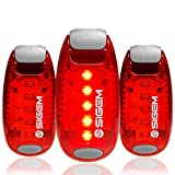 LED Safety Lights + Free Bonuses | Clip on Flashing Strobe Light | High Visibility for Running Jogging Walking Cycling | Best Reflective Gear for Kids Dogs Bicycle Helmet and Bike Tail Light (Red)