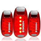 LED Safety Lights (3 Pack) + FREE Bonuses | Clip on Flashing Strobe Light High Visibility for Running Jogging Walking Cycling for Kids Dogs Bicycle Helmet Bike Tail light
