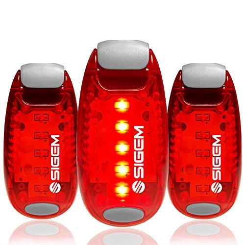 LED Safety Lights (3 Pack) + FREE Bonuses | Clip on Flashing Strobe Light...