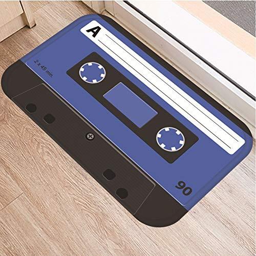 OPLJ Cinta de cassette para el suelo, antideslizante, alfombra para puerta de baño, cocina, entrada, decoración del hogar, alfombra A16, 50 x 160 cm
