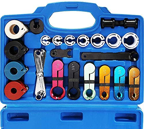 Orion Motor Tech 22pcs Master Quick Disconnect Tool Kit for Automotive AC Fuel...