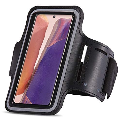 UC-Express Schutzhülle kompatibel für Samsung Galaxy Note 20 Ultra Jogging Handy Tasche Schwarz Sportarmband Sport Hülle Fitnesstasche Lauf Case