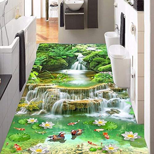 Benutzerdefinierte 3D-Bodentapete Vinyl-Bodenaufkleber Wasserdichte Selbstklebende Badezimmer Wohnzimmer Schlafzimmer Bodenbilder Wandtapete,400 * 280cm