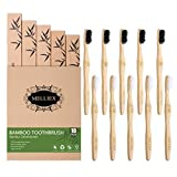 10PCS Cepillo de Dientes de Bambu, Ecológicos Bamboo Toothbrush Biodegradable Wood Eco Toothbrush con Cerdas Suaves para Adultos Niños