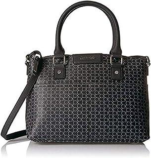 كالفن كلاين حقيبة للنساء-فضي واسود - حقائب بتصميم الاحزمة