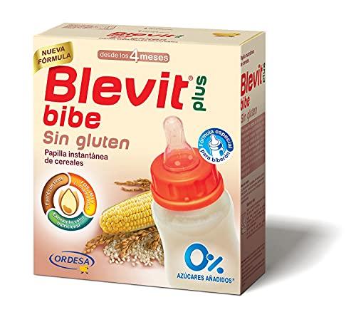 Blevit Plus Bibe Sin Gluten - Papilla de Cereales para Bebé Sin Gluten fórmula especial para Biberón - Sin Azúcares Añadidos - Desde los 4 meses - 600g