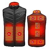 ARTOCT Chaleco calefactable, chaleco eléctrico USB para hombre y mujer, 3 niveles de temperatura, chaqueta calefactable, tamaño ajustable, lavable, chaleco cálido para invierno para exterior y diario