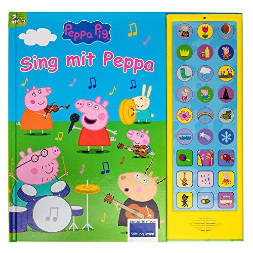 Peppa Pig - Sing mit Peppa Pig - 27-Button-Soundbuch mit 24 Seiten für Kinder ab 3 Jahren - mit bekannten Kinderliedern und Geräuschen