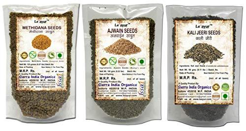 Le'ayur Combo Of Methidana, Ajwain and Kali Jeeri Seeds