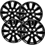 Support Our Troops Motorup America Hubcaps Wheel Covers - Set of 4, 16' Inch Auto Hub Cap Cover Compatible with 13-18 Nissan Leaf - Black