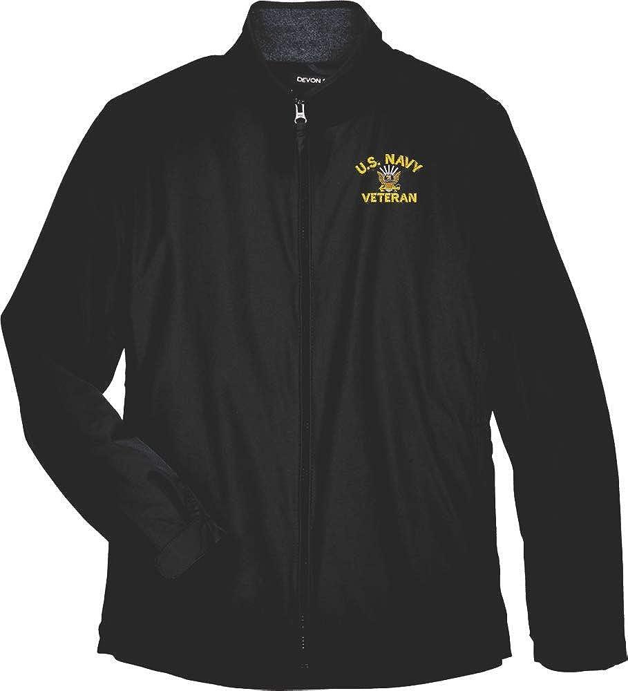 United States Navy Emblem Veteran Women's Devon and Jones Nylon Jacket