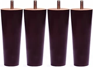 Sweet Melodi Round Solid Wood Furniture Sofa/Chair/Couch/Loveseat/Cabinet Replacement Legs (5 Inches,Set of 4)
