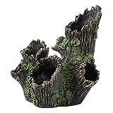 Esenlong Decoración de madera deriva del acuario, resina artificial del tronco de los peces que ocultan refugio del tanque de peces ornamentos para jugar y ocultar los peces