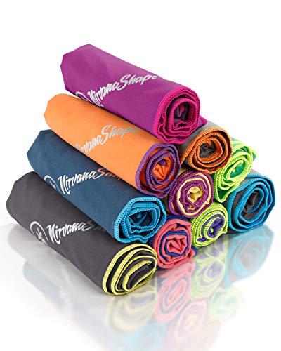 NirvanaShape® Asciugamano Microfibra | 14 colori | 8 taglie | Asciugatura Rapida, Leggero, Assorbente | Asciugamano da Viaggio / Asciugamano da Bagno