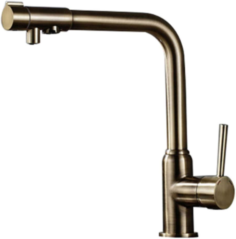 Taps Kitchen Basin Bathroom Washroomantique Brass Whitening Kitchen Faucet Water Purifier Single Handles Deck Mounted redation Kitchen Sink Mixer Taps