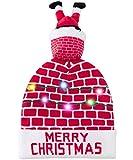 LED Weihnachtsmützen Weihnachtsmann im Schornstein