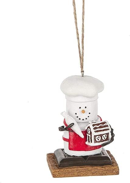 S Mores Original 2017 Chef Building A Gingerbread House Ornament