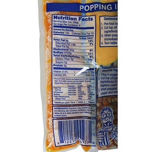 Product Image 6: Great Northern Popcorn Company 8 Oz Kettle Premium Popcorn Portion Packs with Gourmet Popcorn Kernels, Coconut Oil, and Butter Flavored Salt, Case of 24