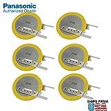 6X Panasonic CR-2032/VC1N 3V Lithium Coin Battery Horz 2 Pins for PC CMOS Toshiba Satellite CMOS RTC BIOS Battery C650, L635, L305, L305D, L355, L355D, L455, L455D, L505 L505D, L555, L555D, L650