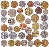 Diferentes Monedas de Todo el Mundo. Juegos de Monedas extranjeras Reales para coleccionistas de Monedas, 20 Monedas con Animales.