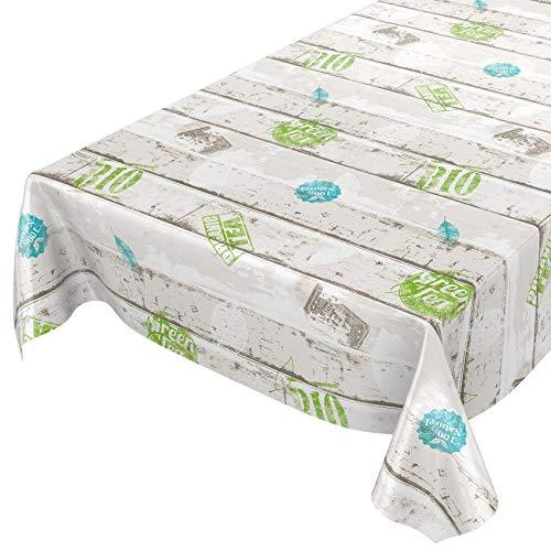 ANRO wasdoek tafelkleed wasdoek wastafelkleed tafelkleed afwasbaar Industry Style Fresh hout 140 x 140 cm, snijrand
