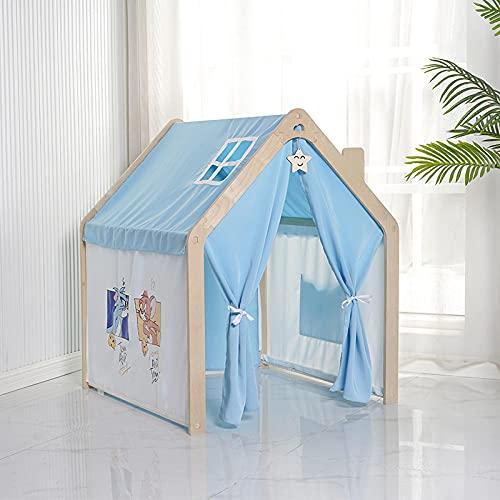 Blu Tenda Bimba con Luci a Stella a LED,Tende Gioco Bambini de Villetta Tenda Bambinaper Bambini Giocattolo per Bambini,920x960x1130cm