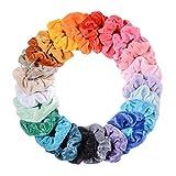 jrcure scrunchies velluto vsco girl 10 elastici capelli fasce per capelli donna bambina ragazza accessori assortiti splendidi colori di tendenza morbidi eleganti